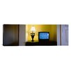 iCanvas Panoramic Television and Lamp in a Hotel Room, Las Vegas, Clark County, Nevada Photographic Print on Canvas