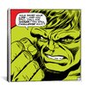 iCanvas Marvel Comics Book Hulk Art Panel G Graphic Art on Canvas
