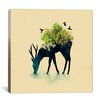 iCanvasArt Watering Canvas Print Wall Art