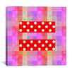 iCanvas Flags Gay Red Equality Sign, Equal Rights Symbol Graphic Art on Canvas in Purple