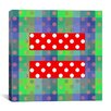 iCanvas Flags Gay Red Equality Sign, Equal Rights Symbol Graphic Art on Canvas in Green