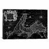 <strong>iCanvasArt</strong> Antique Map of Italy (1649) by Joan Janssonius Graphic Art on Canvas in Black