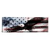 iCanvas Bald American Eagle, U.S. Flag Graphic Art on Canvas in Red / Blue