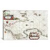 iCanvas Antique Sea Chart of Norway, German Sea and England (1958) by Arnold Colom  Graphic Art on Canvas in White