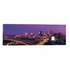 iCanvas Atlanta Panoramic Skyline Cityscape Photographic Print on Canvas in Sunset