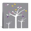 iCanvas Autumn Trees Graphic Art on Canvas in Gray