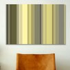 iCanvasArt Striped Art Olive Oil Green Graphic Art fon Canvas