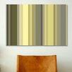iCanvas Striped Art Olive Oil Green Graphic Art fon Canvas