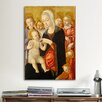 iCanvas 'Madonna with Child and Two Angels' by Matteo Di Giovanni Painting Print on Canvas