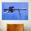 iCanvasArt 'M82 SniperRifle on Blue' by Michael Tompsett Graphic Art on Canvas