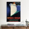 iCanvasArt Empress of Britain (Canadian Pacific) Vintage Advertisement on Canvas