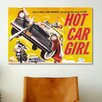 <strong>iCanvasArt</strong> Hot Car Girl Movie Vintage Advertisement on Canvas