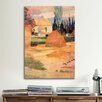 iCanvas 'Haystack in Village' by Paul Gauguin Painting Print on Canvas