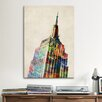 <strong>iCanvasArt</strong> 'Empire State Building' by Michael Tompsett Graphic Art on Canvas