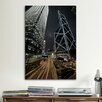<strong>iCanvasArt</strong> Hong Kong Skyscrapers at Night Cityscape Photographic Print on Canvas