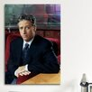 iCanvasArt Political Jon Stewart Portrait Photographic Print on Canvas