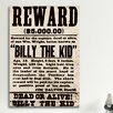 iCanvas Mugshot Billy the Kid Textual Art on Canvas
