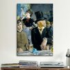 iCanvasArt 'At the Café' by Edouard Manet Painting Print on Canvas