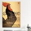 iCanvasArt Cocorico Vintage Advertisement on Canvas