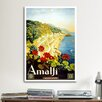 iCanvasArt Amalfi Advertising Vintage Poster Canvas Print Wall Art