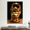 <strong>iCanvasArt</strong> Buddha Statue Photographic Print on Canvas