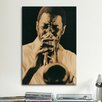 iCanvasArt Jazz Trumpet Player Vintage Photographic Print on Canvas