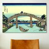 iCanvas 'Fuji Seen Through The Mannen Bridge at Fukagawa' by Katsushika Hokusai Painting Print on Canvas
