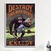 iCanvasArt Destroy This Mad Brute (Enlist U.S. Army) Vintage Advertisement on Canvas