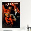 <strong>iCanvasArt</strong> Kellar: Book of the Damned Magic Vintage Advertisement on Canvas
