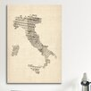 iCanvasArt 'Italy Sheet Music Map' by Michael Tompsett Graphic Art on Canvas