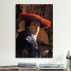 iCanvas 'Girl with a Red Hat' by Johannes Vermeer Painting Print on Canvas