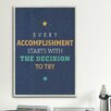 iCanvasArt American Flat Every Accomplishment Textual Art on Canvas