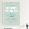 iCanvas American Flat Happy Things Textual Art on Canvas