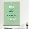 iCanvasArt American Flat Eat Travel Textual Art on Canvas