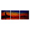 iCanvasArt Claude Monet Sunset in Venice 3 Piece on Canvas Set