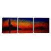 iCanvas Claude Monet Sunset in Venice 3 Piece on Canvas Set
