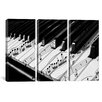 iCanvas Photography Piano 3 Piece on Canvas Set