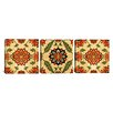 iCanvas Decorative Art Velvet Silk Carpet From Indian Mughal Empire (Panoramic) 3 Piece on Canvas Set