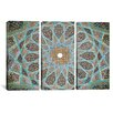 iCanvas Islamic Art Photography Tomb of Hafez Mosaic 3 Piece on Canvas