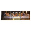 iCanvasArt Leonardo da Vinci The Last Supper 3 Piece on Canvas Set