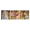 iCanvasArt Botticelli Sandro Les Saisons 3 Piece on Canvas Set