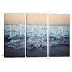iCanvasArt Leah Flores Let's Run Away (Arcadia Beach) 3 Piece on Canvas Set