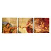 iCanvas Michelangelo Creation of Adam Di Lodovico Buonarroti Simoni 3 Piece on Canvas Set