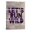 iCanvasArt Leah Flores Let's Run Wild 3 Piece on Canvas Set