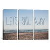 iCanvasArt Leah Flores Let's Sail Away 3 Piece on Canvas Set