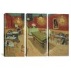 iCanvasArt Vincent van Gogh The Night Cafe 3 Piece on Canvas Set
