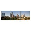 iCanvas Panoramic Photography Austin Skyline Cityscape 3 Piece on Canvas Set