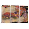 iCanvas Gustav Klimt Water Serpents II 3 Piece on Canvas Set