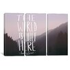 iCanvas The World is Quiet Here by Leah Flores 3 Piece on Canvas Set