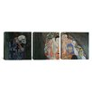iCanvas Gustav Klimt Death and Life 3 Piece on Canvas Set